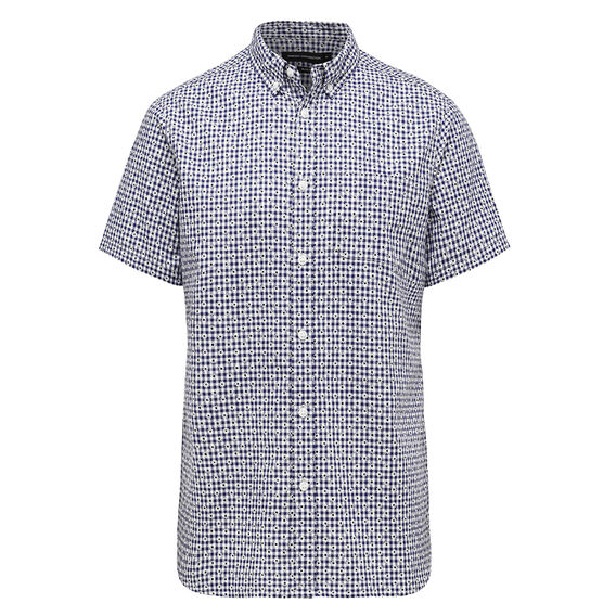 DAISY CHECK SLIM FIT SHIRT  BLUE/WHITE  hi-res