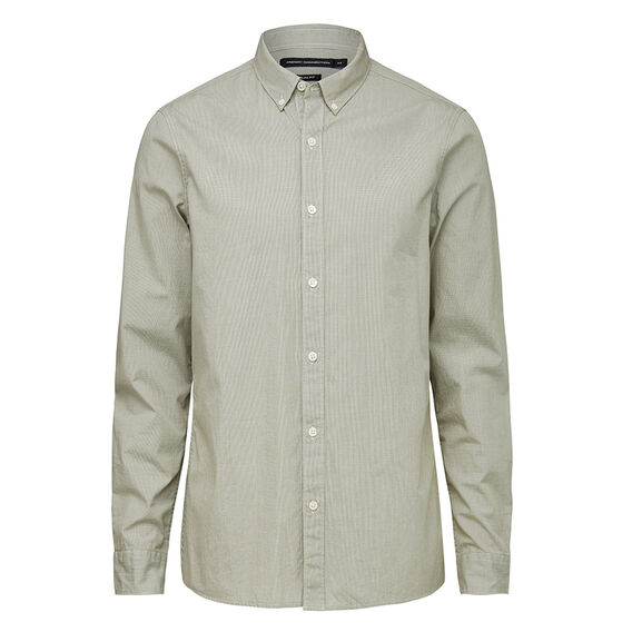 MICRO CHECK SLIM FIT SHIRT  SAGE GREEN  hi-res