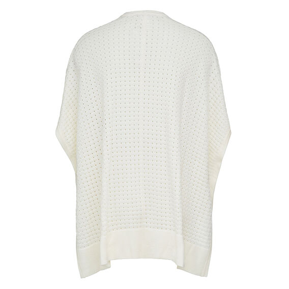 POINTELLE KNIT PONCHO  SUMMER WHITE  hi-res