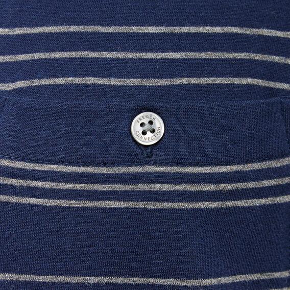 GRADED STRIPE CREW NECK T-SHIRT  MARINE BLUE/CHARCOAL  hi-res