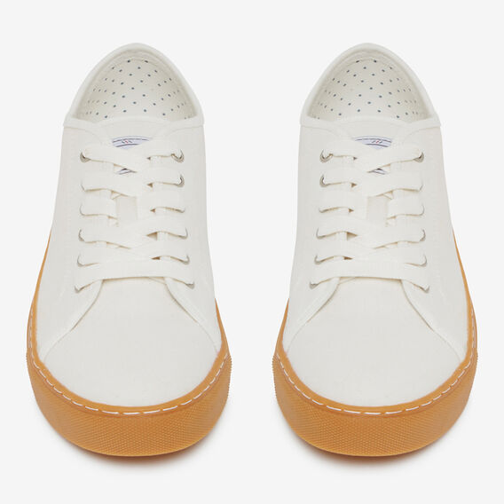WHITE COMPASS COTTON SNEAKER  OFF WHITE / GUM  hi-res