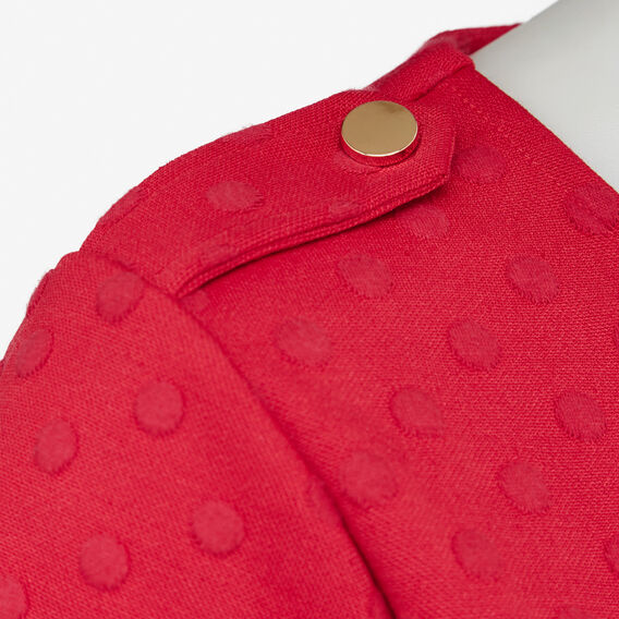 TEXTURED SPOT SWEATER DRESS  BRIGHT RED  hi-res