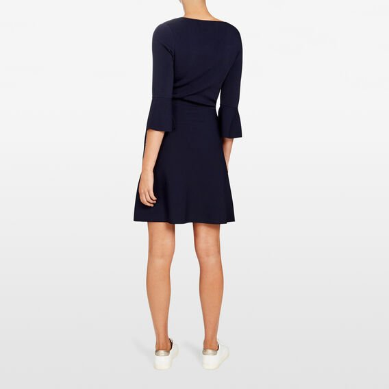 BELL SLEEVE KNIT DRESS  NOCTURNAL  hi-res