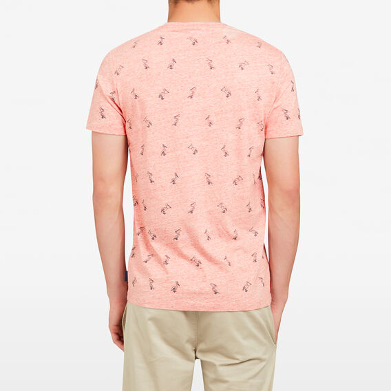 PELICAN ALL OVER CREW NECK T-SHIRT  SHERBERT  hi-res