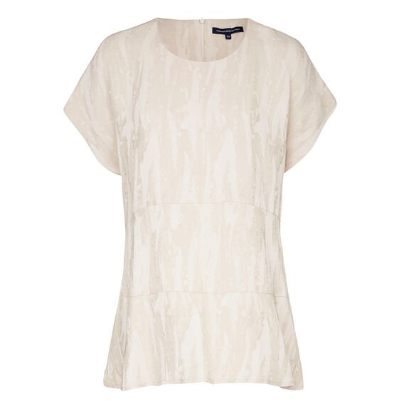 PALM CREPE TOP  AFRICAN STONE  hi-res