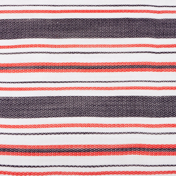 OPEN BACK STRIPE DRESS  WHITE/NAVY/CHERRY CO  hi-res