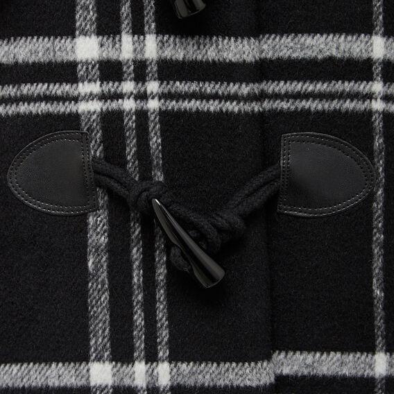 WOODLANDS CHECK DUFFLE COAT  BLACK/SUMMER WHITE  hi-res