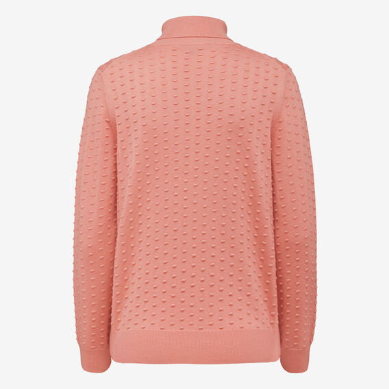 DOBBY ROLL NECK KNIT  STRAWBERRY DAIQUIRI  hi-res