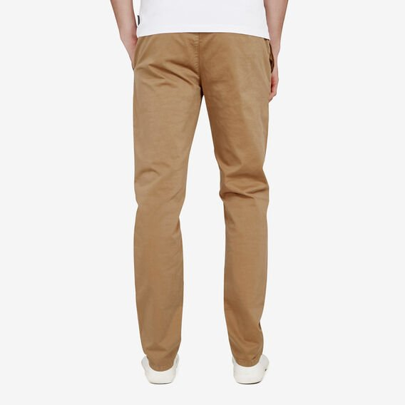 REGULAR FIT STRETCH CHINO PANT  TOBACCO  hi-res