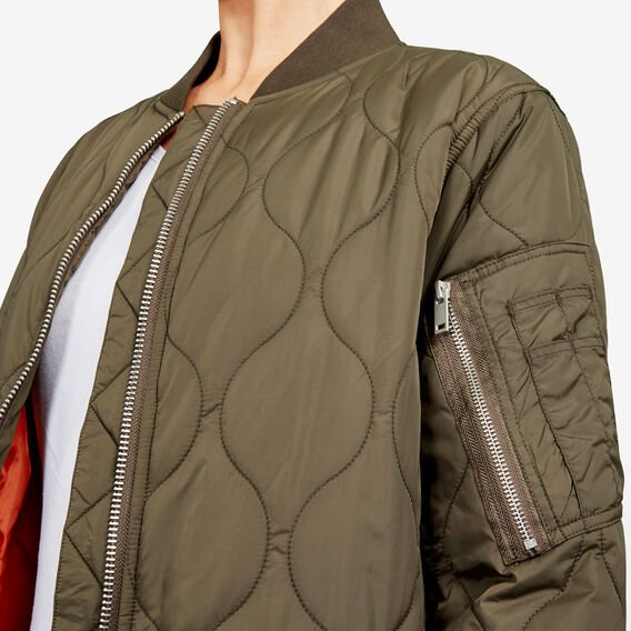 ARDIS PUFFER JACKET  DUSTY OLIVE  hi-res