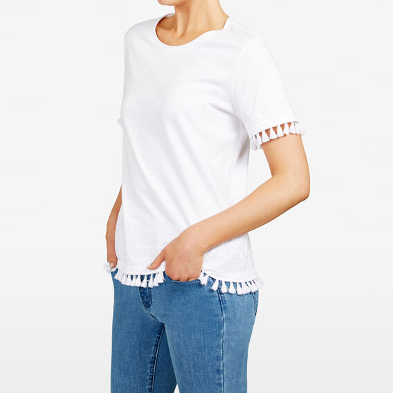 AZTEC EMBROIDERED TEE  SUMMER WHITE  hi-res