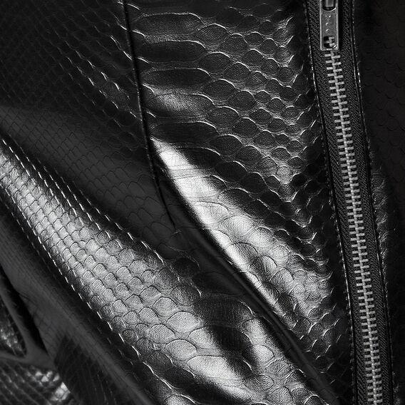 MOCK CROC PANTS  BLACK  hi-res