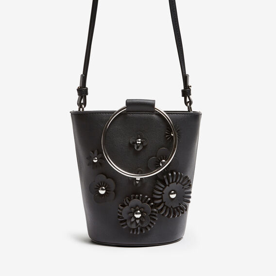 FLOWER POT BAG  BLACK  hi-res