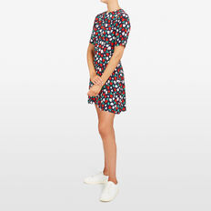 MIXED BERRY PRINTED DRESS  NOCTURNAL MULTI  hi-res