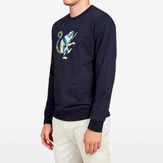 GEO MONEY CREW NECK SWEAT  MARINE BLUE  hi-res