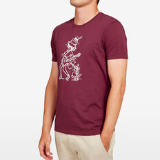 FOX AND HARE T-SHIRT  BURGUNDY  hi-res