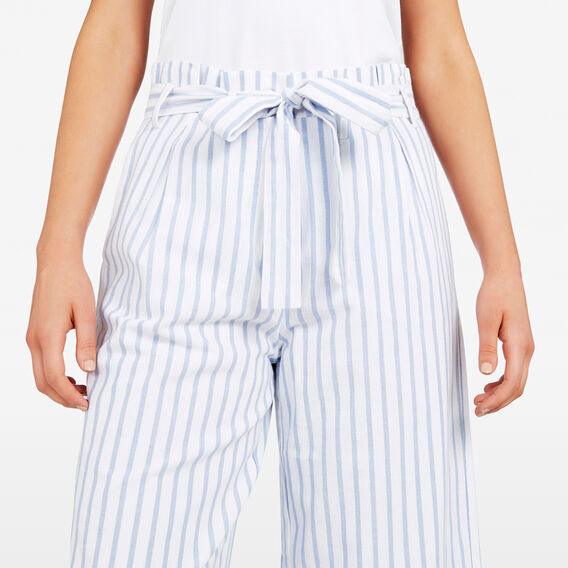 STRIPE WIDE LEG PANT  SUMMER WHITE/BLUE  hi-res
