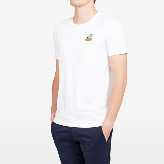 CHEEKY TORTOISE POCKET CREW NECK T-SHIRT  WHITE  hi-res