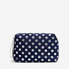 SPOT COSMETIC BAG  NAVY/SILVER  hi-res
