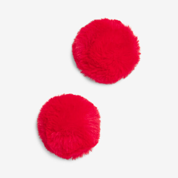 POM POM SHOE ACCESSORY  RED  hi-res