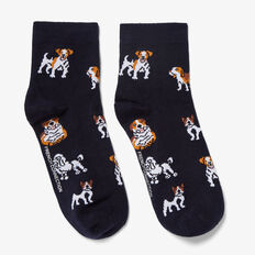 HAPPY DOG SOCKS  NAVY/MULTI  hi-res