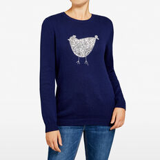 SEQUIN HEN KNIT  NOCTURNAL  hi-res