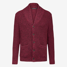 SOCIETY SHAWL NECK CARDIGAN  COLLEGE RED MEL  hi-res