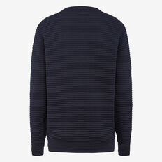 ENCORE CREW NECK KNIT  MARINE BLUE  hi-res