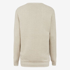 ENCORE CREW NECK KNIT  STONE MELANGE  hi-res
