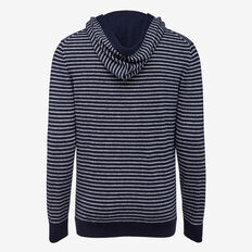 YALE STRIPE CREW NECK KNIT  OXFORD BLUE  hi-res