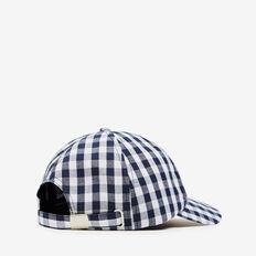 GINGHAM CAP  NAVY/WHITE  hi-res