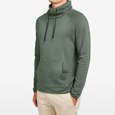 WRAP COLLAR SWEAT  FOREST  hi-res