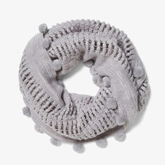 ENDLESS KNITTED SCARF  GREY MARLE  hi-res
