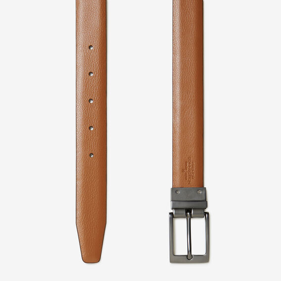 REVERSIBLE LEATHER BELT  DK TAN/LT TAN  hi-res