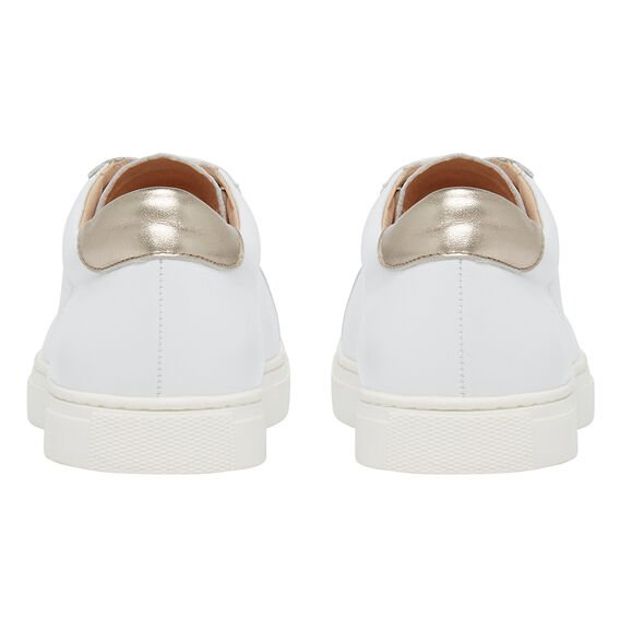 LEATHER SNEAKER  WHITE  hi-res