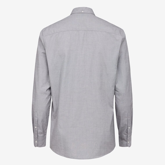 SPOTTED REGULAR FIT SHIRT  GREY MEL  hi-res