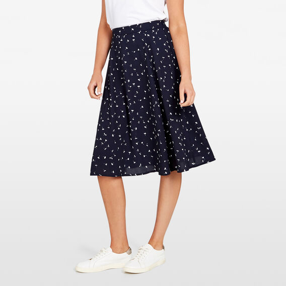 MEADOW FLORAL SWING SKIRT  NOCTURNAL MULTI  hi-res