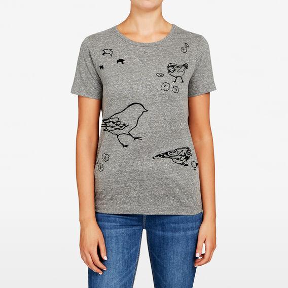 SKETCH BIRD TEE  CHARCOAL MARLE/NOCTU  hi-res