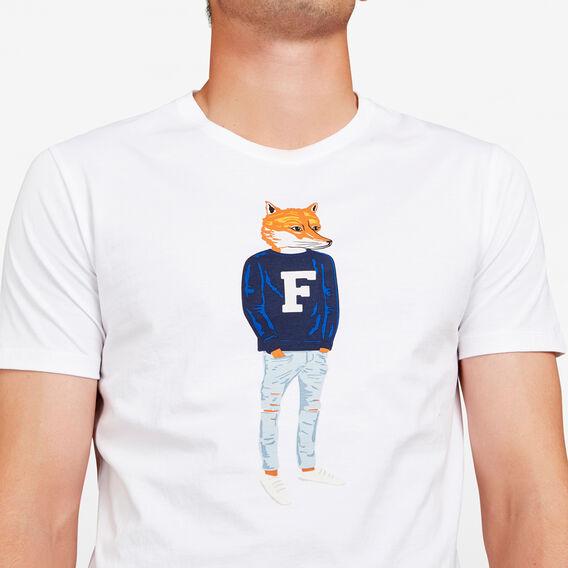 FRENCH FOX T-SHIRT  WHITE  hi-res