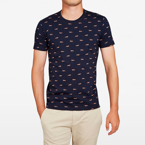 FOXIN' ALL OVER T-SHIRT  MARINE BLUE  hi-res