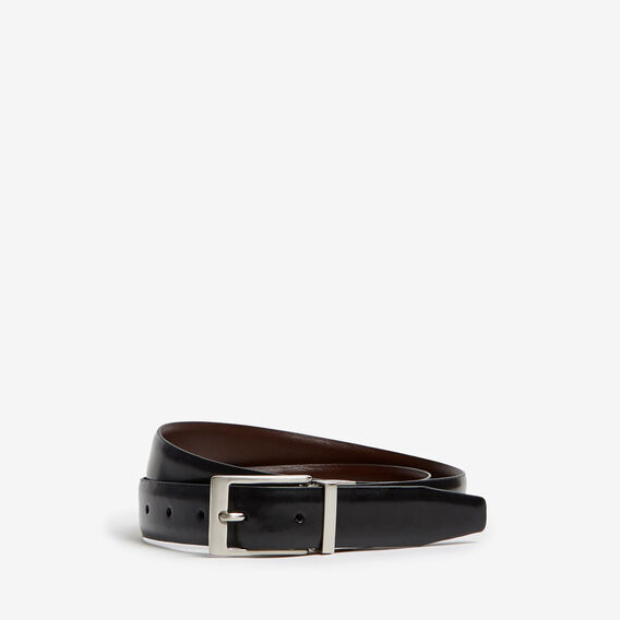 REVERSIBLE LEATHER BELT  BLACK/TAN  hi-res