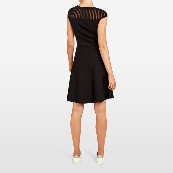 CREPE KNIT DRESS  BLACK  hi-res