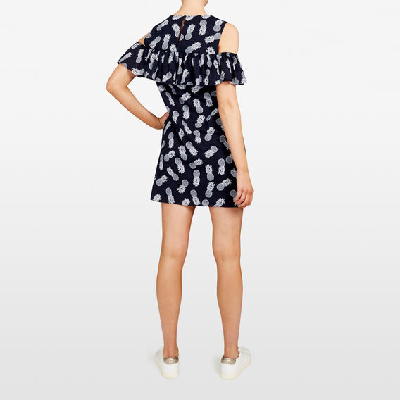 PINEAPPLE PRINTED DRESS  NOCTURNAL/SUMMER WHI  hi-res