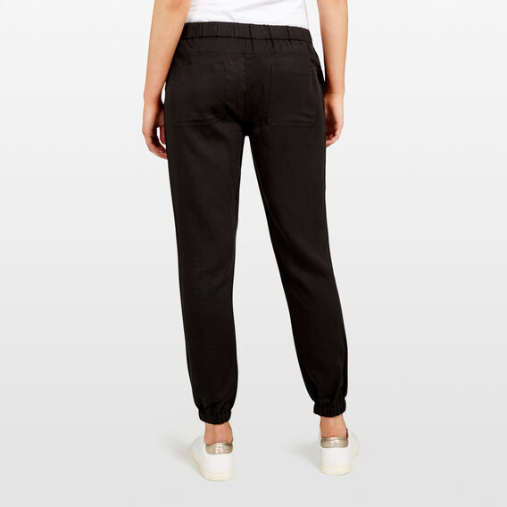 LYOCELL CASUAL PANT  BLACK  hi-res