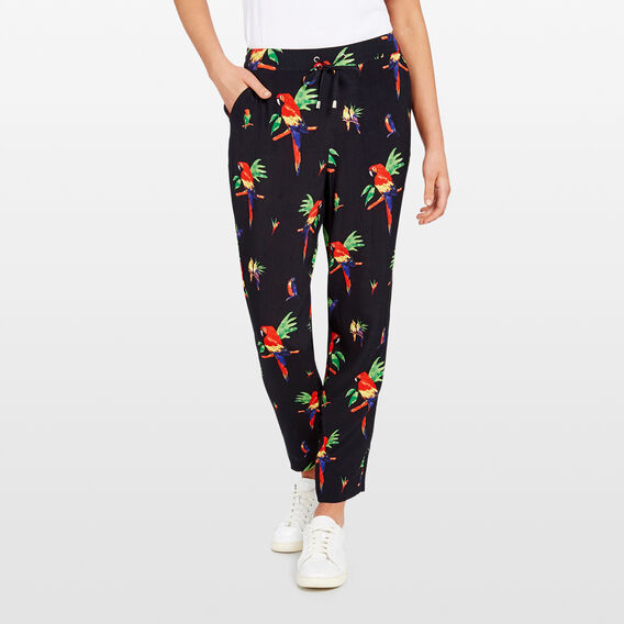 PRINTED SOFT PANT  BLACK/MULTI  hi-res