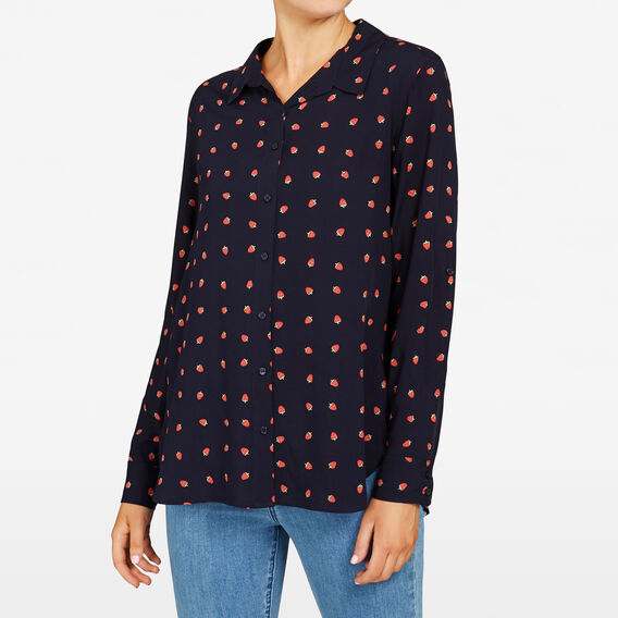 STRAWBERRY PRINT SHIRT  NOCTURNAL MULTI  hi-res