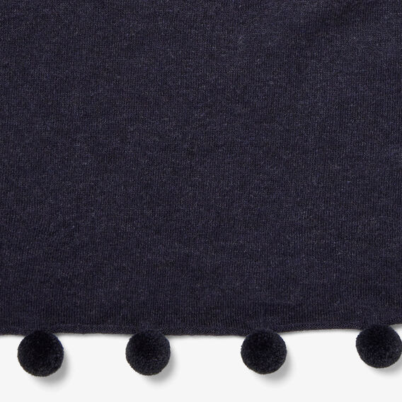 LIGHTWEIGHT POM SCARF  NAVY  hi-res