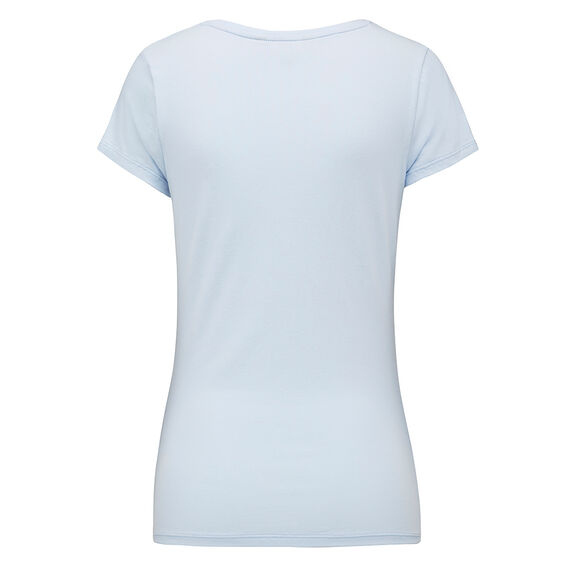 HAYLEY STRETCH SCOOP NECK TEE  CRYSTAL CLEAR  hi-res