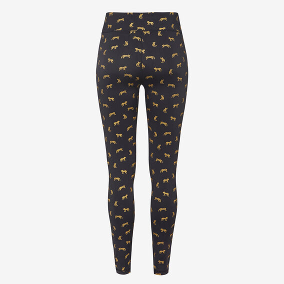 FOIL ANIMAL LEGGING  BLACK/GOLD  hi-res