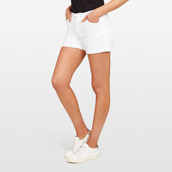BOYFRIEND DENIM SHORT  SUMMER WHITE  hi-res